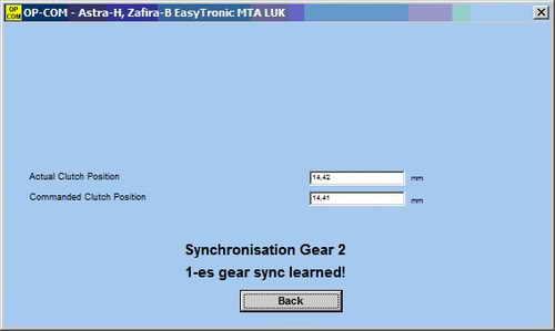 Адаптация и регулировка сцепления Easytronic при помощи OP-COM