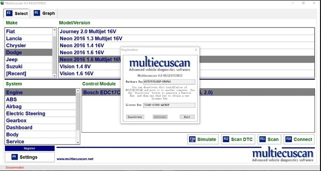 Программа для диагностики Multiecuscan 4.2 Full